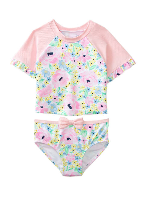 Crown & Ivy™ Toddler Girls 2 Piece Swim