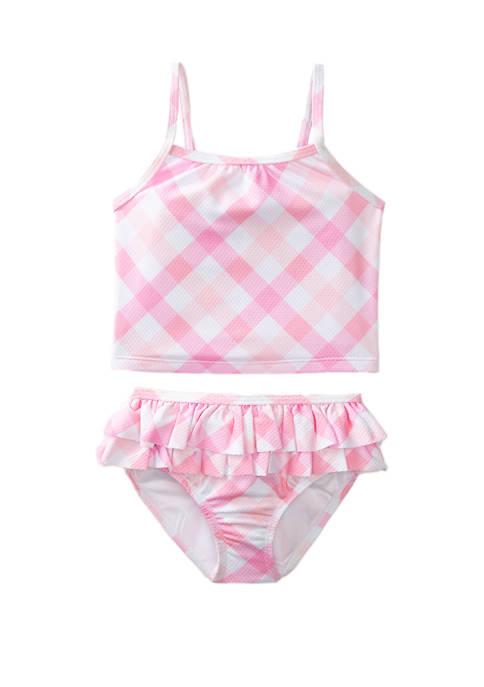 Crown & Ivy™ Toddler Girls Pink Gingham 2