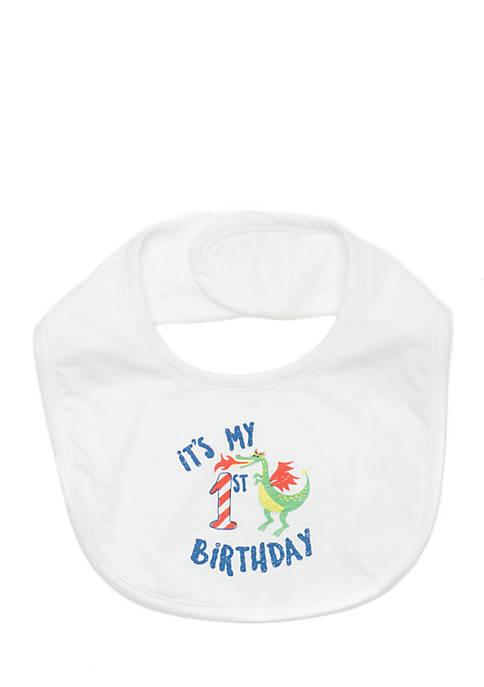 Lightning Bug Baby Birthday Bib