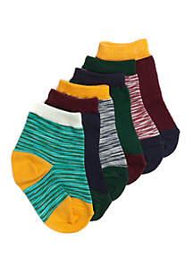 Baby Boys Multi No Show Socks Set