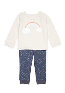Infant Girls 2-Piece Rainbow Set