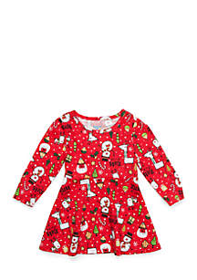Baby Girls Long Sleeve Skater Dress