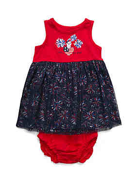 62c71981cf0 Lightning Bug Baby Girls Tulle Skirt Dress ...