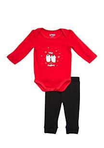 Infant Girls Bodysuit and Legging Set