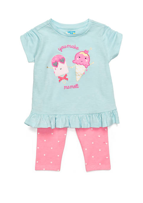 Baby Girls Tunic Capri Set