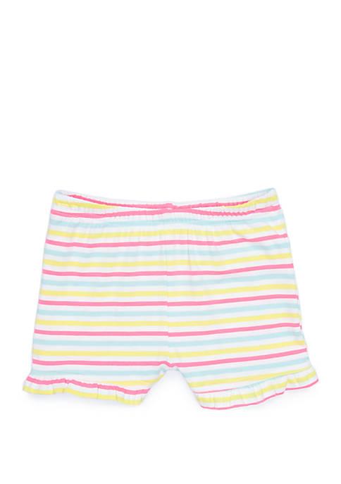 Lightning Bug Baby Girls Ruffle Shorts