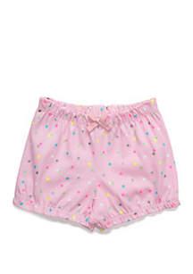 Lightning Bug Baby Girls Bubble Shorts with Bow