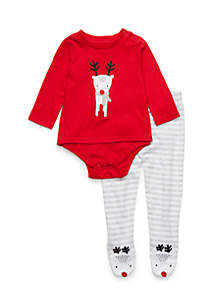 Baby Boys Bodysuit and Footie Set