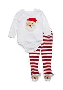 Baby Boy Button Raglan and Footie Set