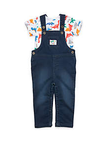 Baby Boys Overall and Bodysuit Set