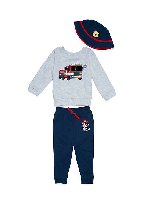 Lightning Bug Baby Boys Pullover and Jogger Set