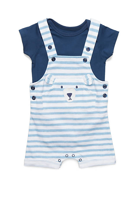 Lightning Bug Baby Boys Knit Overall Set