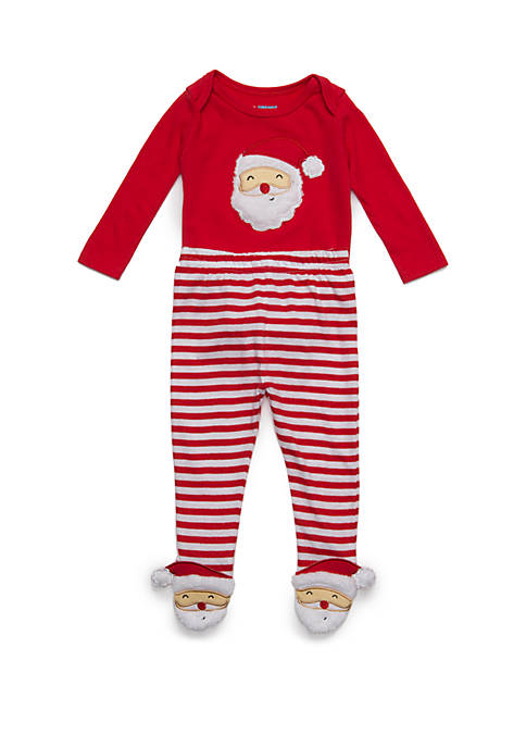 Lightning Bug Baby First Christmas Character Footie Set