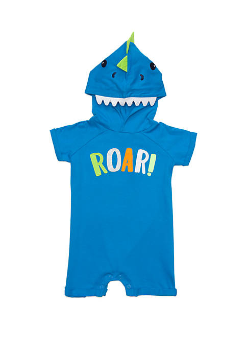 Baby Boys Hooded Dino Romper