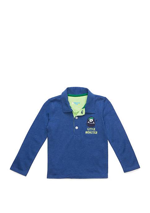 Baby Boys Long Sleeve Polo Shirt