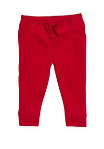 Baby Boys Joggers with Ribbed Pocket Binding
