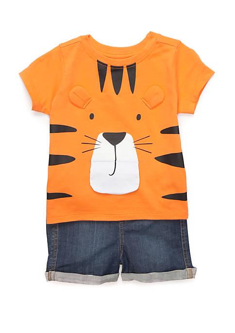 Toddler Boys Tee and Denim Shorts