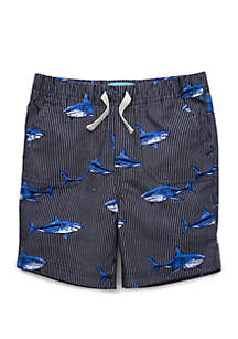 Lightning Bug Toddler Boys Shark Pork Chop Shorts