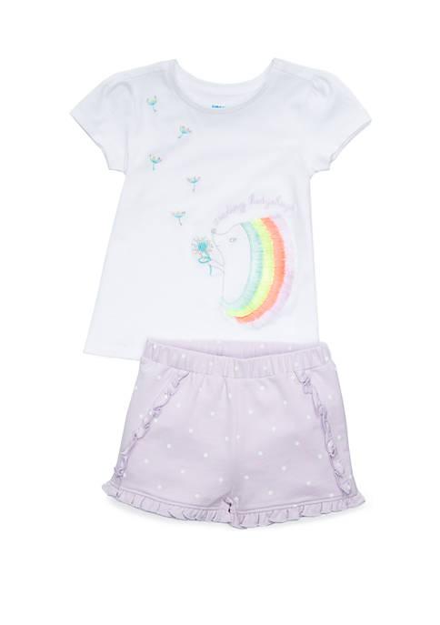 Lightning Bug Toddler Girls Tee and Bubble Shorts