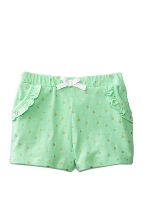 Lightning Bug Toddler Girls Ruffle Pocket Shorts