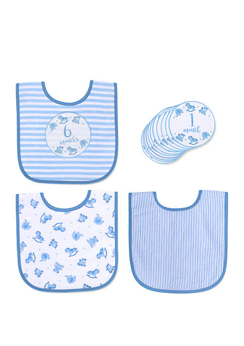 Crown & Ivy™ Baby Boys Bib Set with