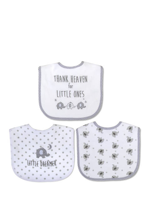 Crown & Ivy™ Baby Set of 3 Bibs