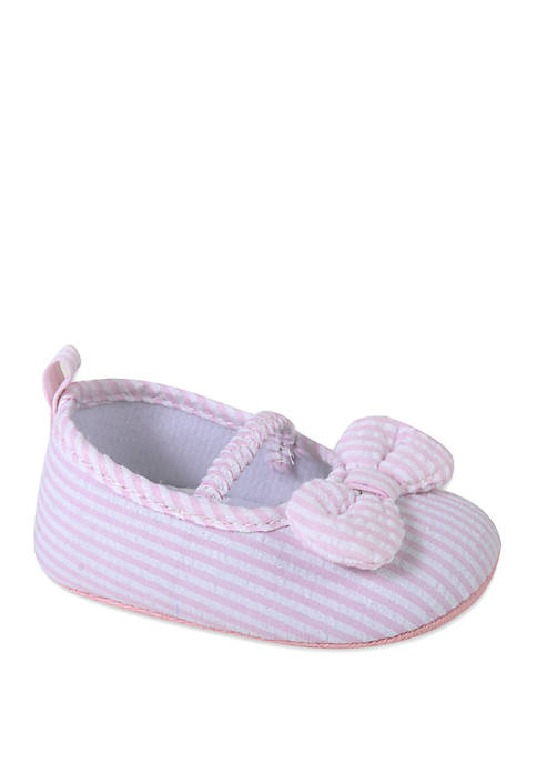 Crown & Ivy™ Baby Girls Pink Stripe Seersucker