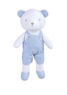 Crown & Ivy™ Baby Boys Seersucker Plush Bear