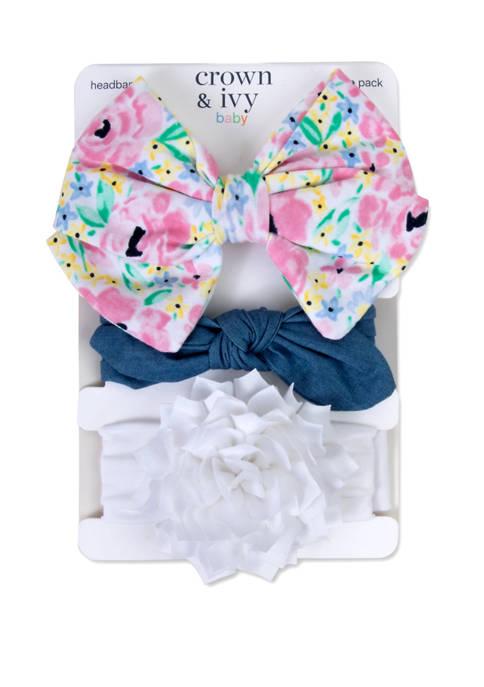 Crown & Ivy™ Baby Girls Set of 3