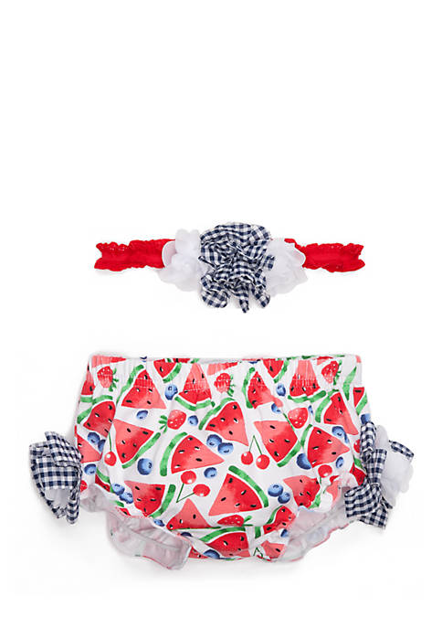 Crown & Ivy™ Infant Girls Diaper Cover Set