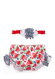 Infant Girls Diaper Cover Set