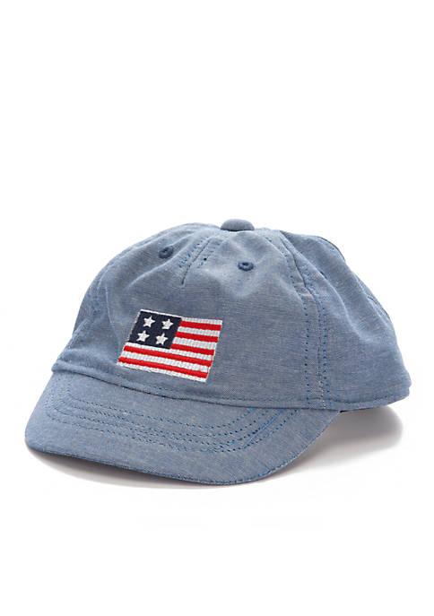 Crown & Ivy™ Infant Chambray Flag Cap