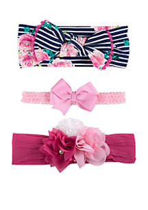 Newborn Girls Headbands Set