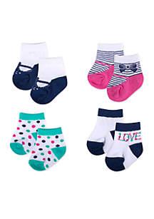 4-Pack Love Socks