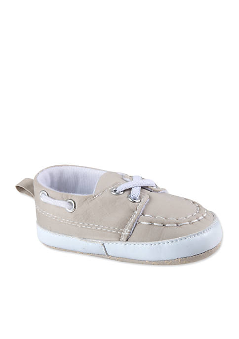 Crown & Ivy™ Newborn Twill Boat Shoes