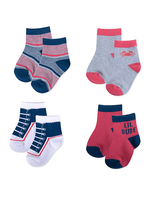 Crown & Ivy™ Boys 4-Pack Socks