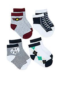 Baby Boys Hey Y'all Sock Set