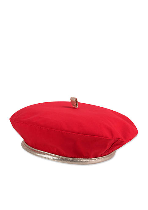 Crown & Ivy™ Baby Girls Red Holiday Beret