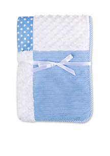 Baby Boys Blue Patchwork Blanket