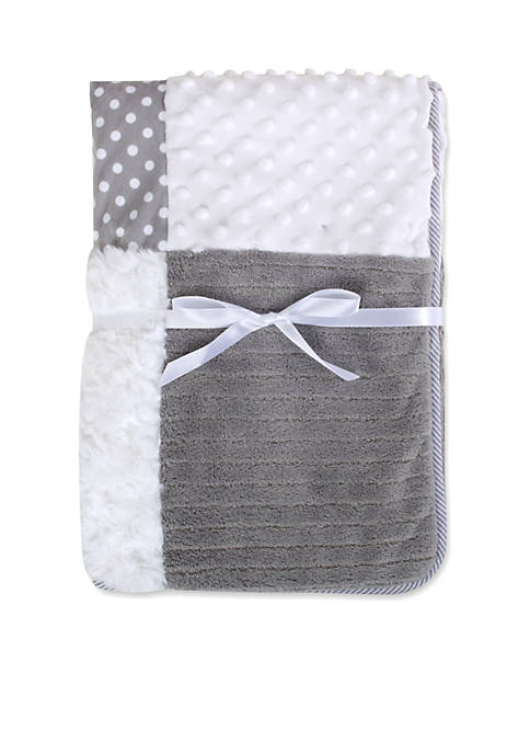 Crown & Ivy™ Gray Patchwork Blanket