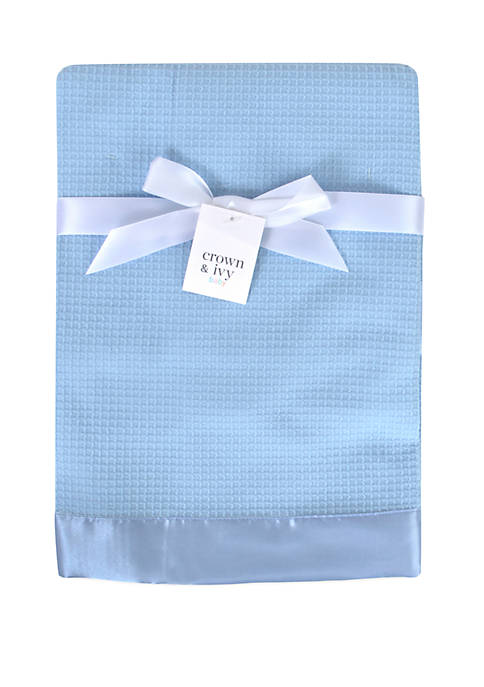 Crown & Ivy™ Baby Boys Blue Waffle Knit