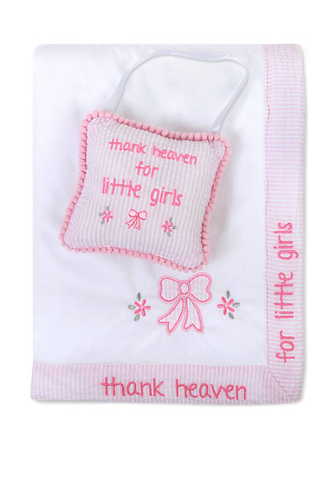 Baby Girls Thank Heavens Blanket and Pillow