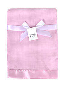 Crown & Ivy™ Baby Girls Pink Waffle Knit Blanket