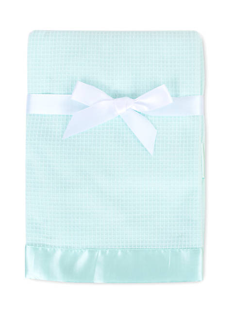 Crown & Ivy™ Baby Aqua Waffle Knit Blanket