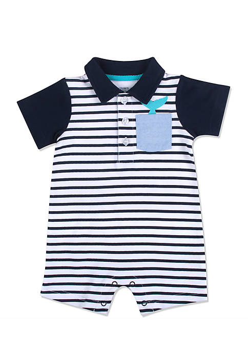 Crown & Ivy™ Striped Shortall One-Piece Boys Infant