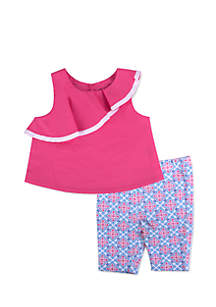 Girls Infant 2-Piece Ruffle Top and Leggings Set