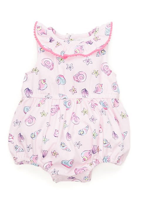 Crown & Ivy™ Seashell Sunsuit Infant Girls