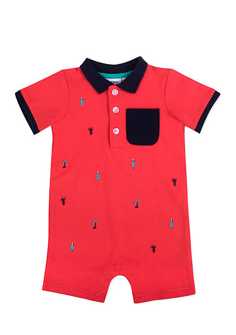 Crown & Ivy™ Palm Tree Pique Romper Infant