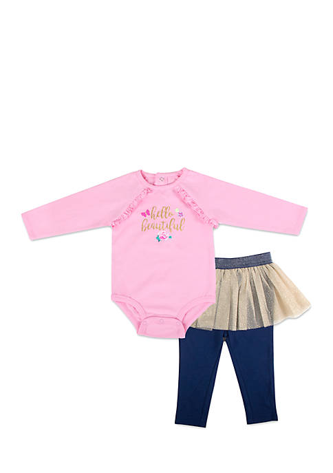Crown & Ivy™ Infant Girls Hello Beautiful Tutu
