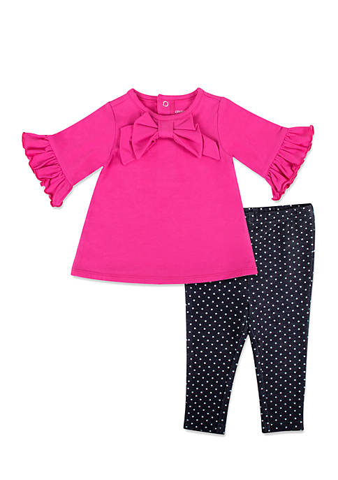 Crown & Ivy™ Infant Girls Bow Legging Set